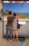 turister Arkivbild