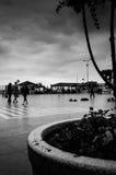Turister av sommarstaden Fotografering för Bildbyråer