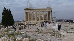 Turister för AtenGrekland folk arkivfilmer