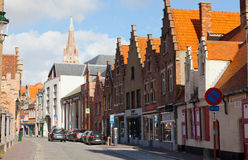 Turister i Bruges Fotografering för Bildbyråer