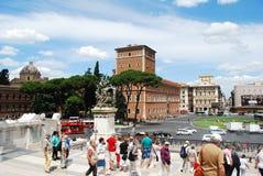 Turister i den Rome staden på Maj 29, 2014 Royaltyfri Foto