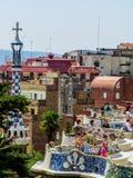 Turister i det Barcelona begreppet Royaltyfria Bilder