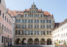 Turister i Goerlitz Fotografering för Bildbyråer