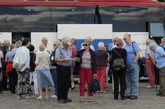 Turister i Köpenhamn Arkivbild