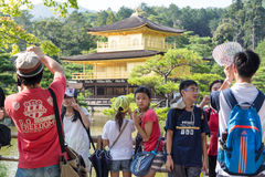 Turister i Kyoto arkivfoton