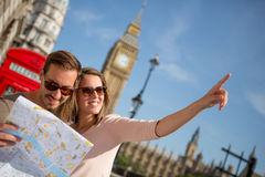 Turister i London Royaltyfri Bild
