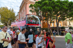 Turister i Monte - carlo Arkivbild