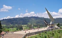 Turister i Pantano de Vargas, Paipa, Boyaca, Colombia royaltyfri foto