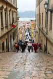 Turister i Portoferraio, Italien Royaltyfria Foton
