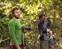 Turister i safari Royaltyfri Foto