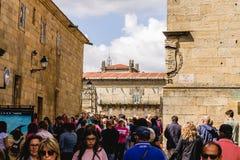 Turister i Santiago Fotografering för Bildbyråer