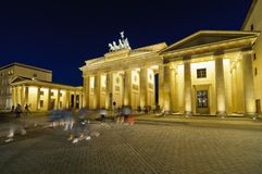 Turister i staden, berlin Royaltyfria Foton