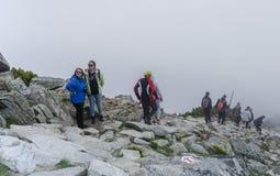 Turister i Tatrasen Arkivfoton