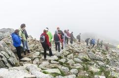 Turister i Tatrasen Royaltyfri Bild