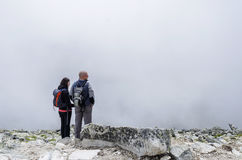 Turister i Tatrasen Fotografering för Bildbyråer