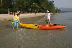 Turister i Thailand Royaltyfria Foton