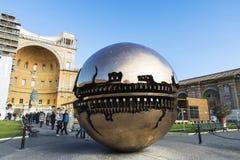 Turister i Vatican City, Vaticanen Arkivfoton