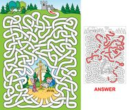 Turister - labyrint hårt royaltyfri illustrationer