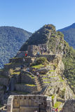 Turister Machu Picchu fördärvar Cuzco Peru Arkivfoton
