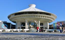 Turister och museet av Vancouver Arkivfoto
