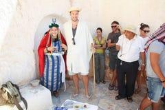 Turister på berberhemmet Royaltyfri Fotografi
