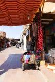 Turister på den gamla marknaden - Aswan, Egypten Fotografering för Bildbyråer