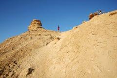 Turister på kamelhuvudet vaggar Royaltyfria Bilder