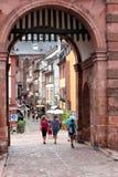 Turister som besöker Heidelberg Arkivfoto