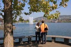 turister zurich Arkivbild