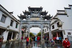Turisterna i Jiangwan Royaltyfri Foto