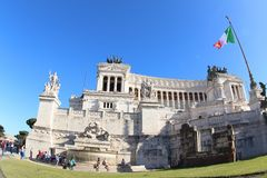 Turisti all'altare della patria, Roma Fotografia Stock
