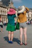 Turisti asiatici in Louvre Immagini Stock Libere da Diritti