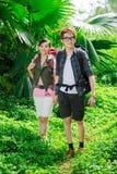 Turisti Backpacking Immagini Stock Libere da Diritti