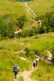 Turisti che attraversano Gran Sabana, Venezuela Immagini Stock