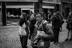 Turisti cinesi Fotografie Stock Libere da Diritti