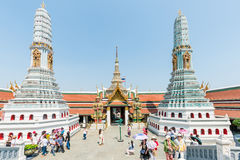Turisti cinesi a Wat Phra Kaew Fotografia Stock