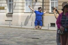 Turisti cinesi a Zagabria, Croazia fotografie stock libere da diritti
