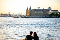 Turisti a Costantinopoli Immagini Stock