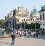 Turisti a Dresda Fotografie Stock Libere da Diritti