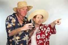 Turisti facenti un giro turistico Fotografia Stock