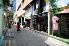 Turisti a (fascino del Kampong) Singapore quarta araba Fotografie Stock Libere da Diritti