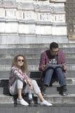 Turisti a Genova fotografie stock libere da diritti