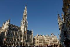 Turisti a Grand Place a Bruxelles, Belgio Fotografie Stock Libere da Diritti