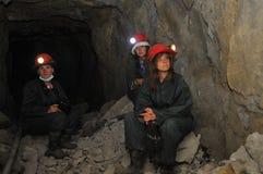 Turisti in miniera d'argento immagini stock