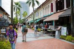 Turisti nel fascino del Kampong, Singapore fotografia stock libera da diritti