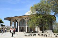 Turisti nel palazzo di Topkapi a Costantinopoli Fotografia Stock