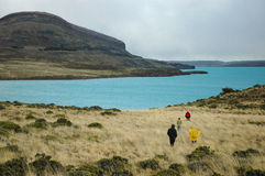 Turisti nel Patagonia Immagini Stock