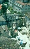 Turisti nella spaccatura, Croazia Fotografie Stock