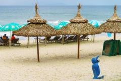 Turisti nella spiaggia della Cina del Da Nang Fotografie Stock