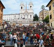 Turisti non identificati vicino alla scala spagnola ROMA - settembre 2013 Fotografia Stock